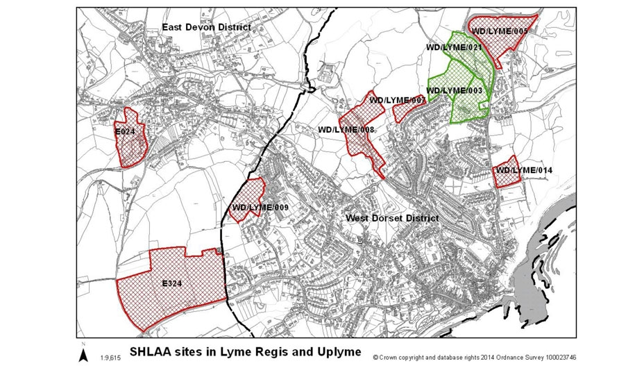 Possible Housing Sites in Lyme Regis and Uplyme - ***Updated 03/09/14***